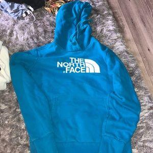 Women's xs blue north face sweatshirt